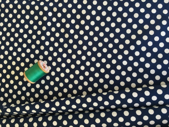 Riley Blake Basics Small Dot C320-21 Navy   3/4 yard remnant