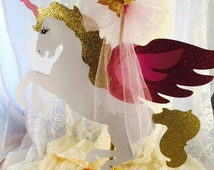 Unicorn Centerpiece - Unicorn Birthday - Unicorn Party - Unicorn Decorations - Pegasus - Birthday - Baby Shower - First Birthday - Customize