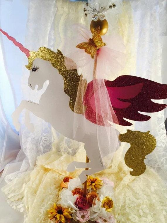Unicorn centerpiece birthday party