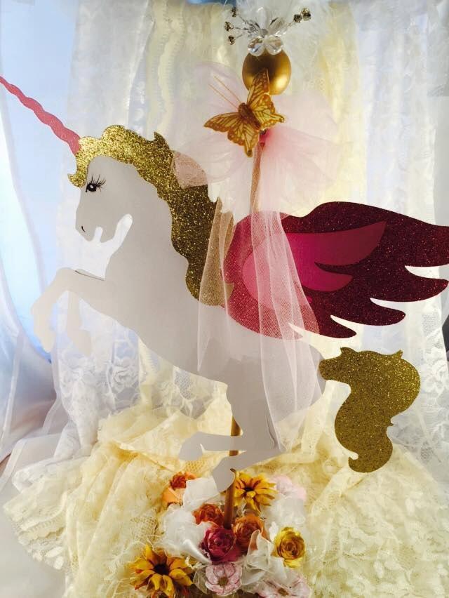 Unicorn Centerpiece Unicorn Birthday Unicorn Party