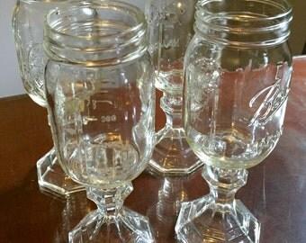 Mason jar on a stem etsy - Stemmed mason jars ...
