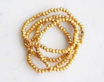 A2-658-30-02] Caramel Crystal / 2mm / Faceted Round Rondelle Bead  / 1 strand