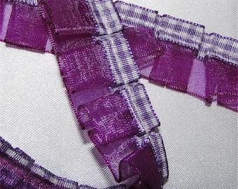 Purple Ribbon / Organza Trim