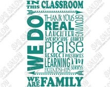 In This Classroom Teacher / Student Subway Word Art Vinyl Decal Cutting File Clipart in Svg, Eps, Dxf, Jpeg Format for Cricut & Silhouette