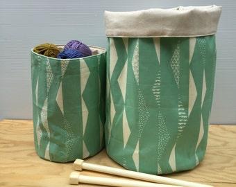 Mint Geometric Storage Baskets