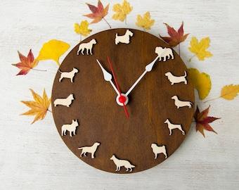 Dog clock different breeds set1 Bestseller gift for children pet lovers Ideas for kids Home dog decor