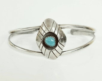 ON SALE Turquoise Sterling Silver Cuff Bracelet