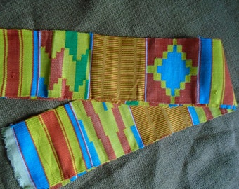 Hand Woven, Kente Cloth Strip, Ghana Africa
