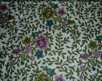 Vintage, Cotton Fabric, 1/2 Yard Cut