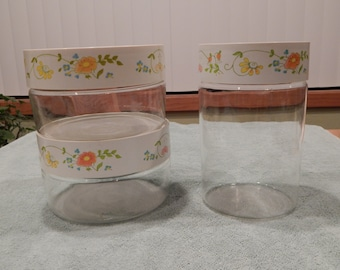Reserved for Janice - Pyrex Wildflower Canister Set