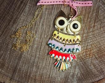 Owl Necklace ~1 pieces #100431
