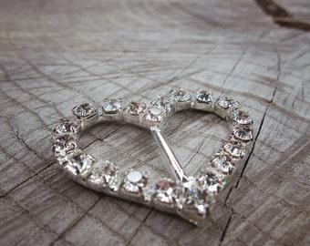 Heart Buckles ~1 pieces #100682