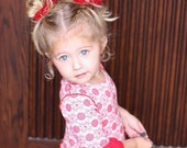 Pigtail Bows, baby bows, bow set , sequin bow, sparkle, by Portia's Closet