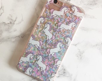 Unicorn quicksand glitter iPhone 7, iPhone 7 plus , iPhone 6, iPhone 6 plus, Samsung S5, S6, case