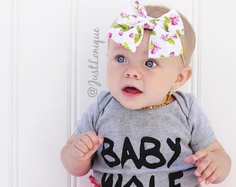 Pink Floral Gracie Bow