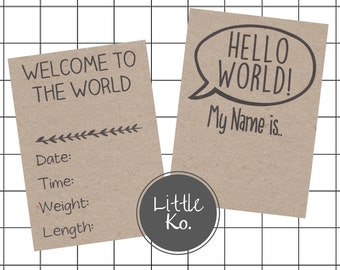 Birth Announcement Card | Baby Milestone Cards