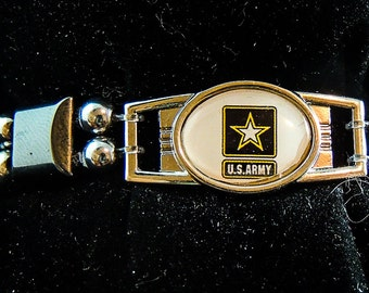 U S ARMY  (small charm) magnetic bracelet