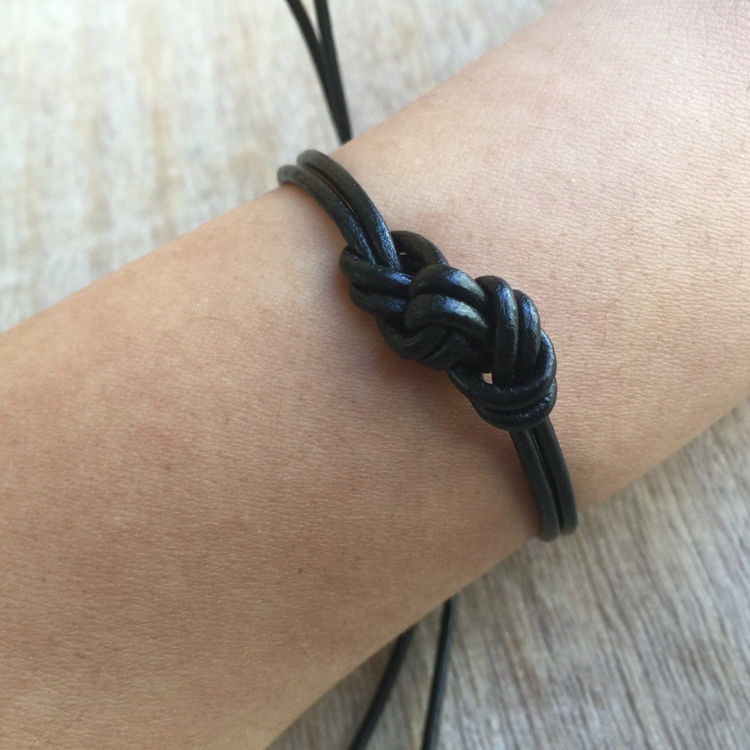 couples leather bracelets his and her bracelet black by