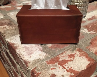Leather Tissue Box Cover
