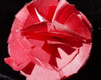 Coral Flower Hair Clip