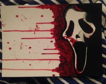Ghostface Scream Horror Print