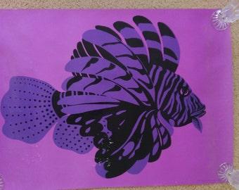 Vintage Lionfish Poster - Finland