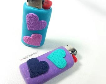 Handmade case lighter,cute, colourful,handmade,polymer clay lighter case