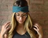 Custom Order- Grey Chunky Knit Twist Headband