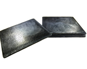 Forged Iron Square Coasters - Set of 4