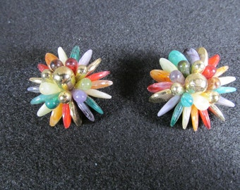 Clip on Earrings, Vintage Fashion Accessories, Jewelry, Fashionware, 1980's Retro
