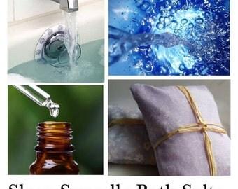 Sleep Soundly Bath Salts, Sleep Easy with Natural Bath Salts, Find Peaceful Sleep with Natural Essential Oils and Salts. -- 16oz Bag