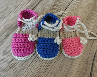 Instant download Crochet Pattern Baby booties, Baby Espadrille sandals , PDF Crochet Pattern N.103