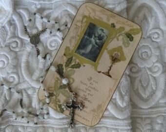 Vintage Rosary martyrdoms french shabby