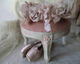 Nostalgic vintage stool stool shabby chic boudoir bohemian franske danske