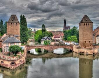 Les Ponts Couverts, Strasbourg Photograph.
