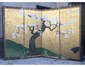 Japanese Screen Etsy - Cherry blossom room divider screen