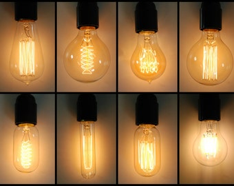vintage industrial style filament edison light bulb b22 bayonet lamp 40w great with