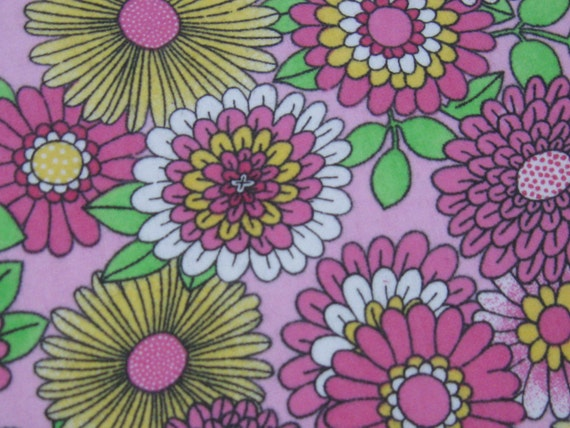Flannel fabric by the yard pink multi colored flowers for Children s flannel fabric by the yard