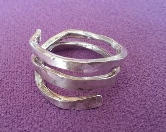 Silver ring Wabi Sabi 3 turns