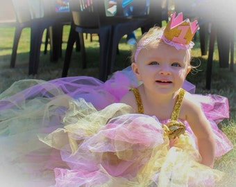 Baby girl first birthday crown