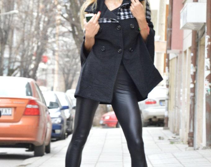 Women Poncho, Cashmere Wool Jacket, Oversize Coat, Plus Size Clothing, Sweater Jacket, Nude Trench Coat by SSDfashion