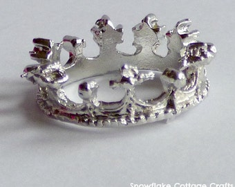 Crown Ring Silver Plated