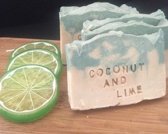 Creamy Coconut & Kaffir Lime Soap, Natural, Handmade, Organic. Made with coconut milk