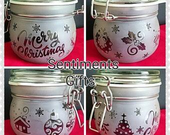 Engraved Kilner Style Christmas Jar