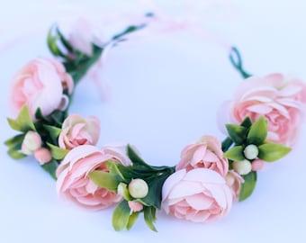 Newborn flower crown, Baby flower crown, baby headpiece, newborn headband, newborn girl, newborn flower hedband, newborn photo prop