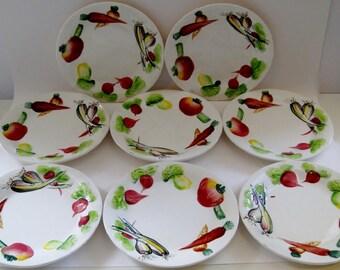 Embossed Salad Plates, Set of 8