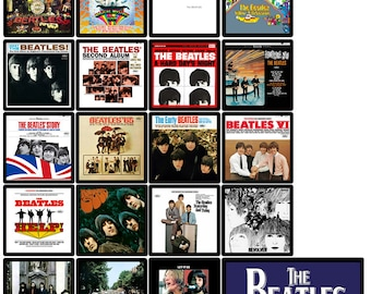BEATLES 20 pack of album cover discography magnets