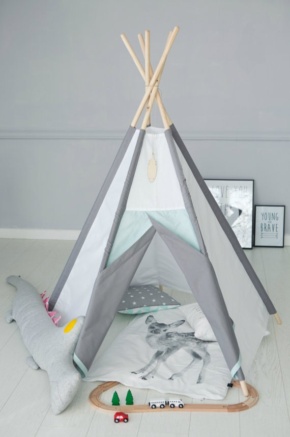 Like this item? & Teepee SET Tipi PLAYMAT Wigwam SALE Zelt Playtent Tent