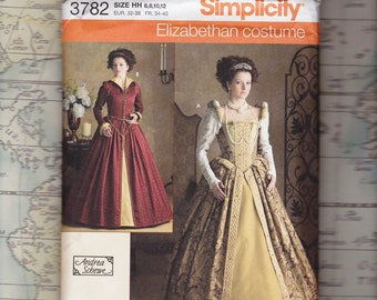 Elizabethan Costume Pattern by Andrea Schewe, Simplicity 3782