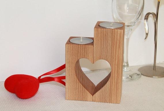 Wood candle holder Mothers day holders Wedding gift Tea light holder Wedding decoration Rustic candle holder Wooden home decor Heart candles